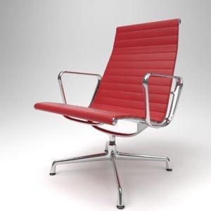 3D interior vitra aluminium chairs