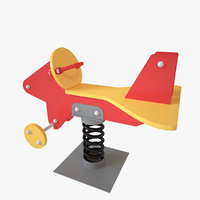 playground spring airplane 3D model