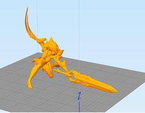 3D leauge riven model