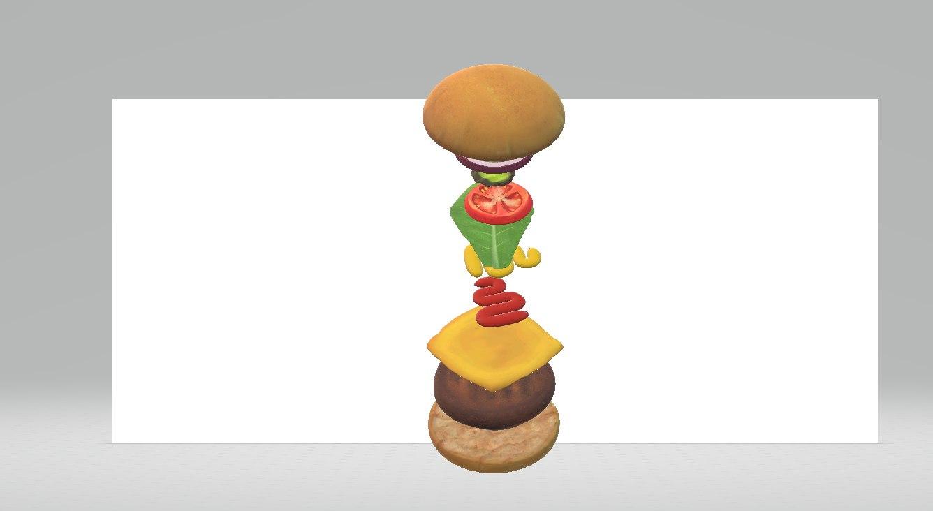 build cheeseburger 3D