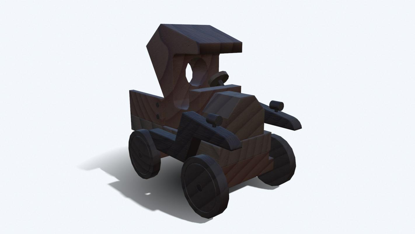 wooden car wood 3D model
