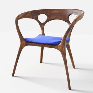 3D model anne chair ross lovegrove