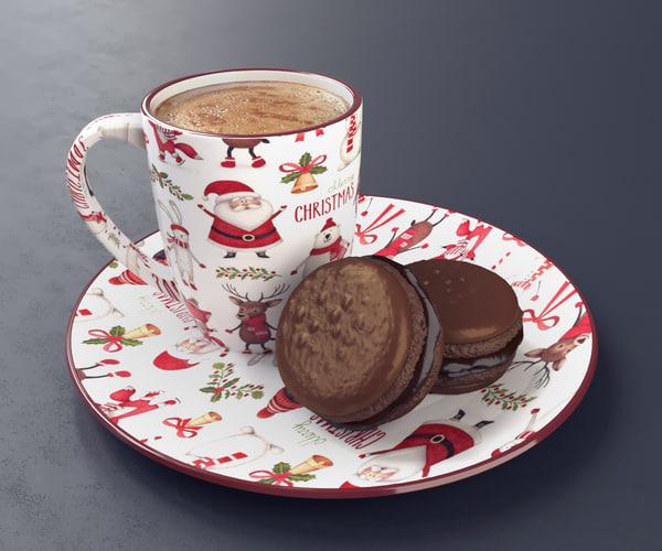 3D coffee macaroon
