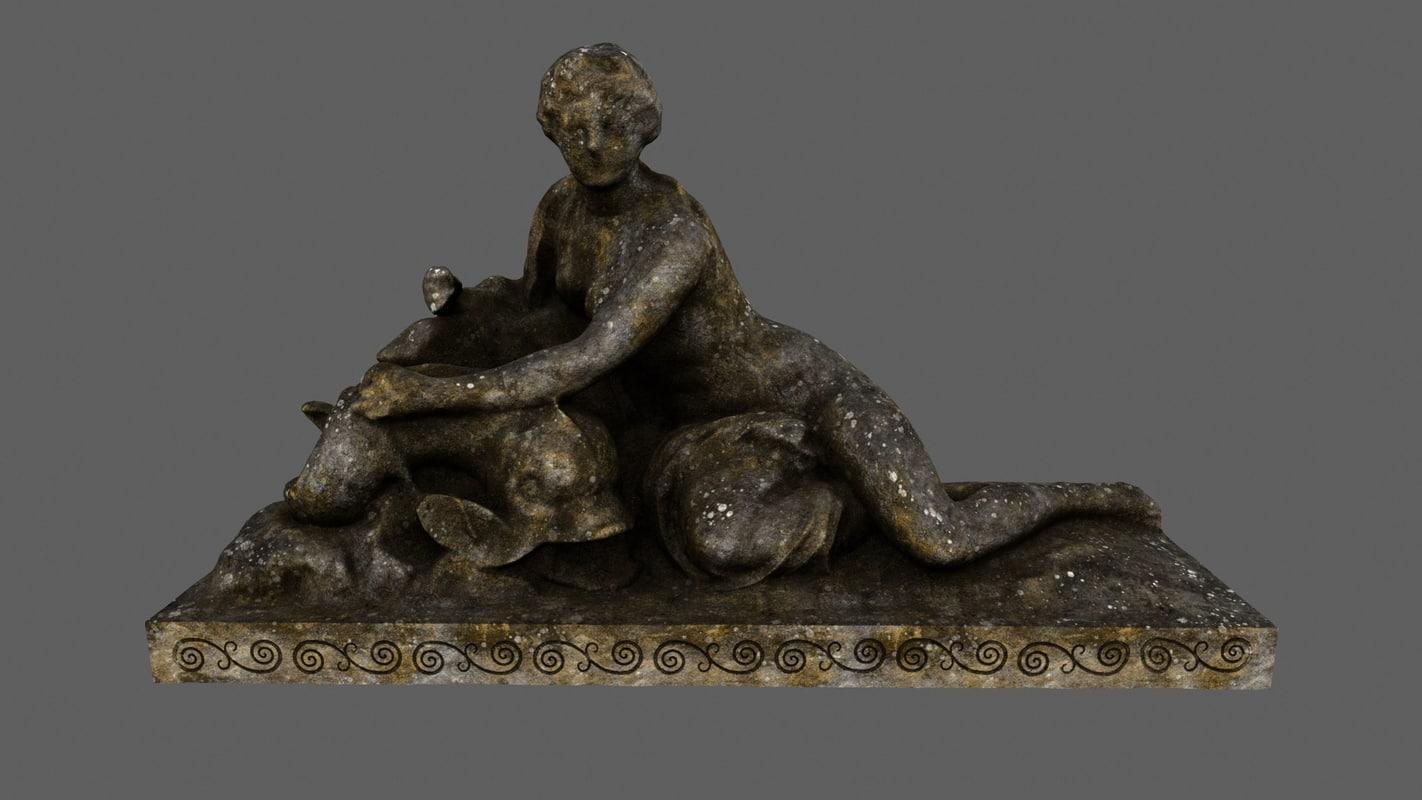 woman statue 3D