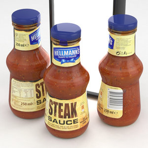 hellmans steak sauce 250ml 3D model