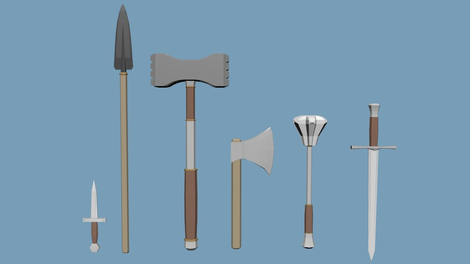 3D weapons pack model