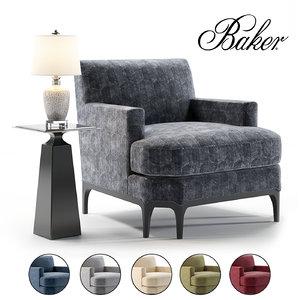 baker celestite lounge model