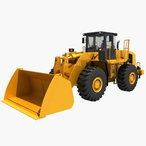 3D wheel loader load model