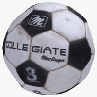 3D old soccer ball