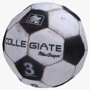 3D old soccer ball
