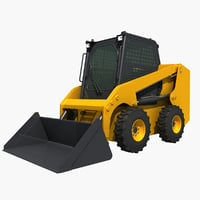 3D model skid steer loader