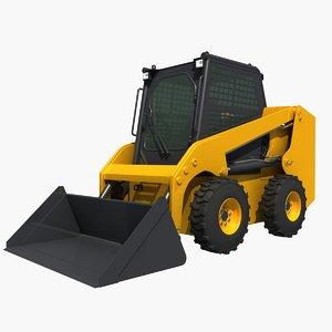 3D model skid steer loader