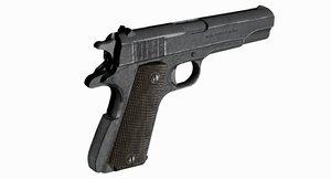 3D pistol 1911 1 4 model