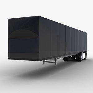 3D van semi-trailer trailer