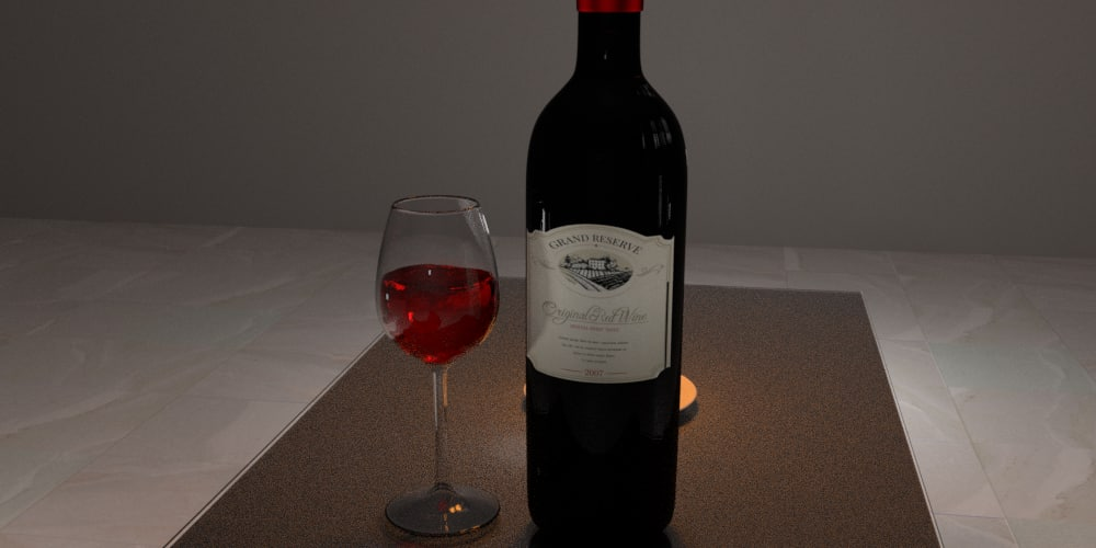 3D animation wine model