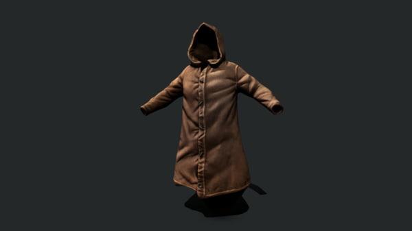 3D model leather jacket