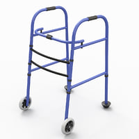 3D wheeled walker model