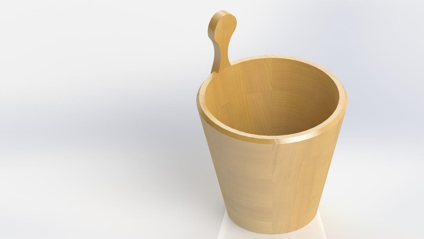 3D barrel wood milk