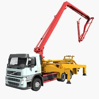 concrete pumper 3D