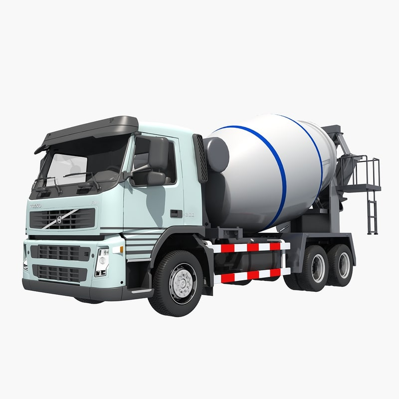 3D cement mixer model
