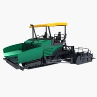 3D asphalt paver model