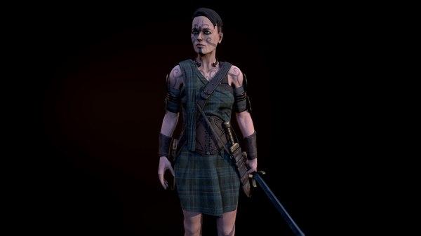 celtic warrior 3D model