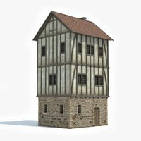 ready medieval house 3D model