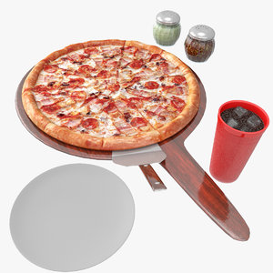 pizza board glass 3D model