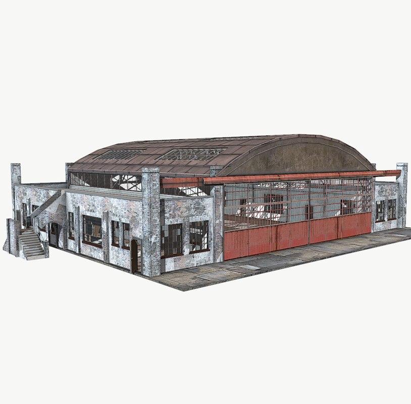 annexe interior hangar model