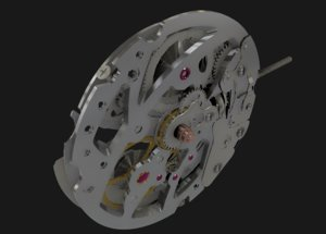 swiss s10 movements 3D model