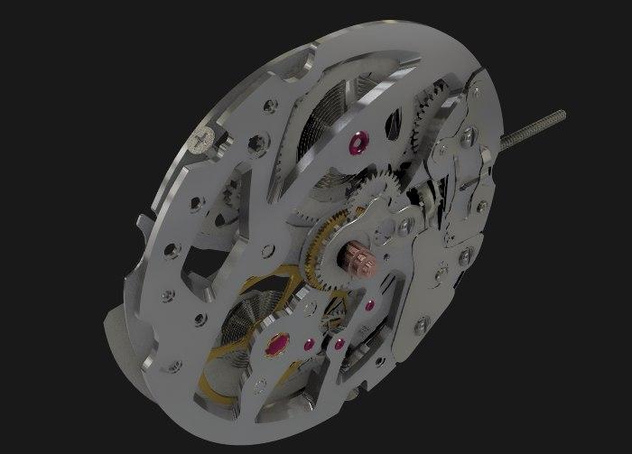 swiss s10 movements 3D model