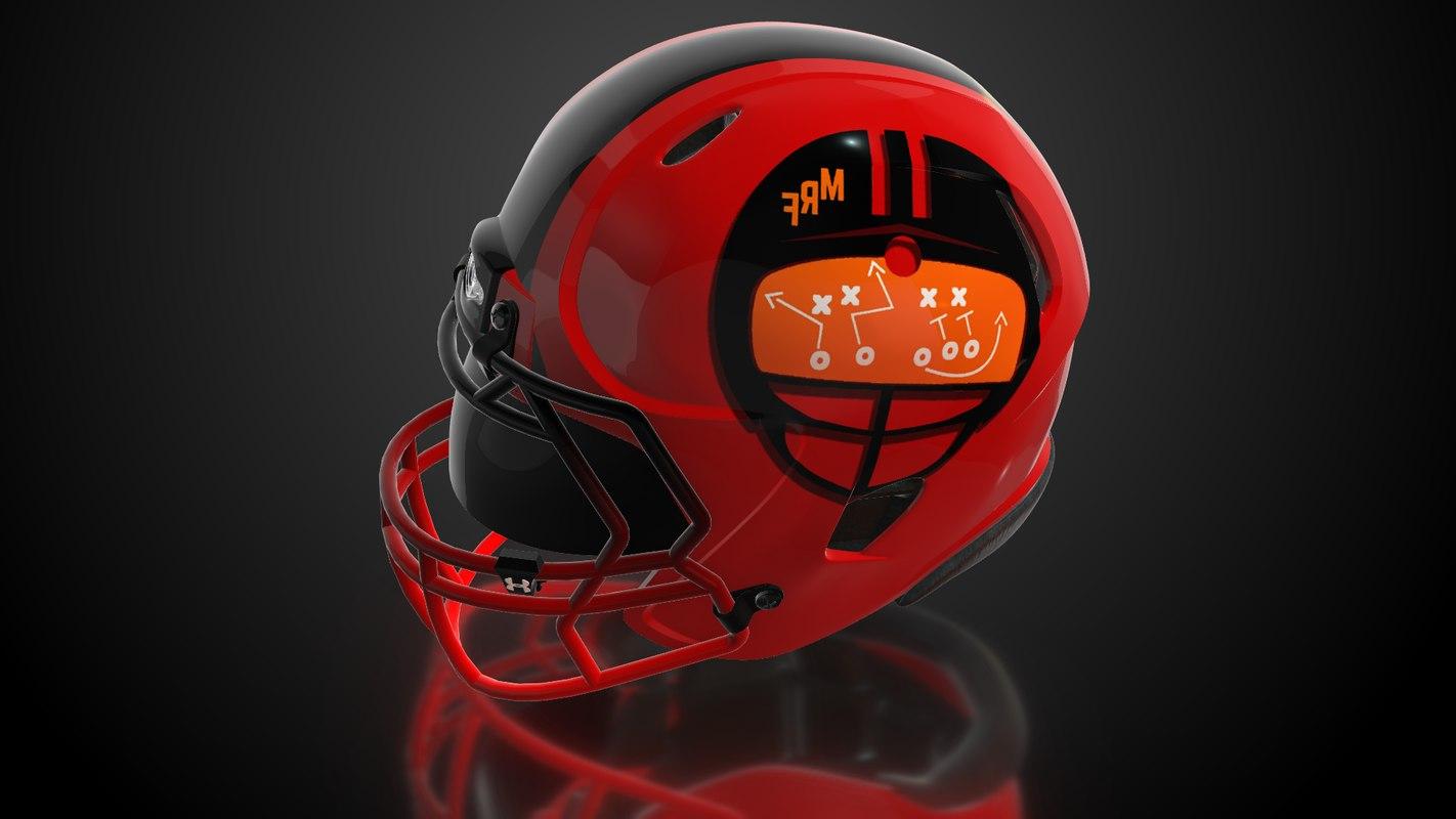 3D american football helmet interior