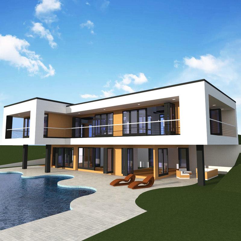 contemporary home 3D model