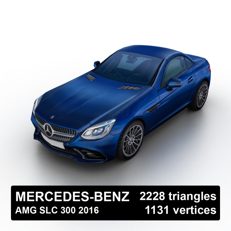 3D 2016 mercedes-benz amg slc