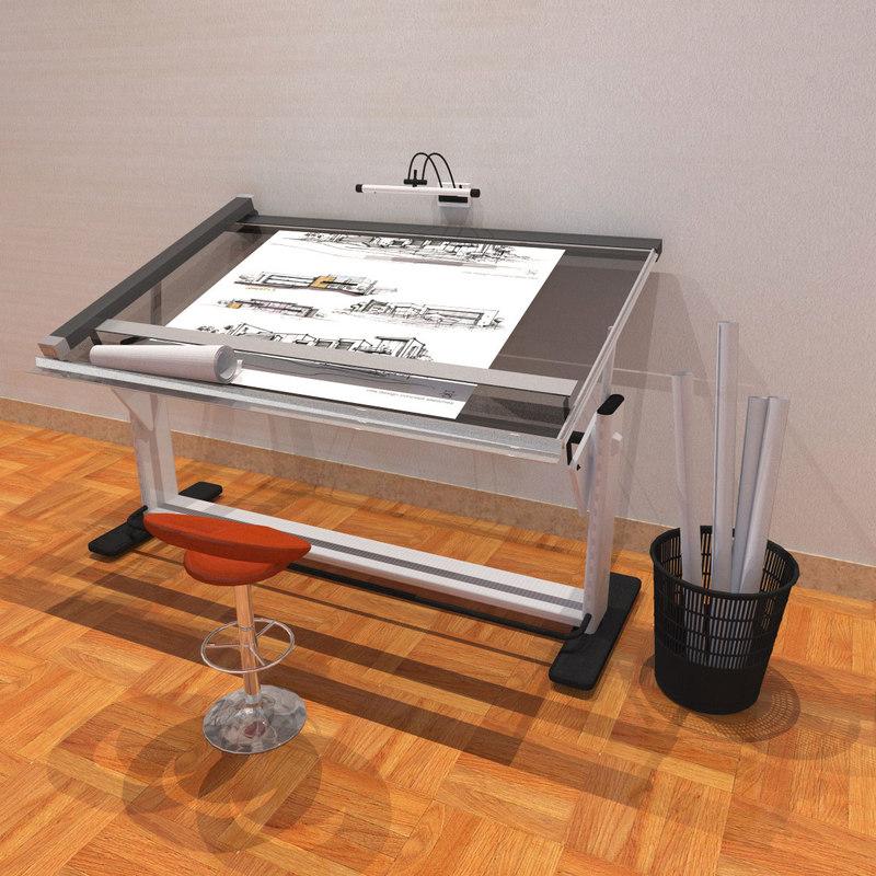 3D drafting machine model