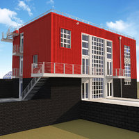 industrial house 3D model