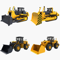 Collection Bulldozer and Wheel Loader