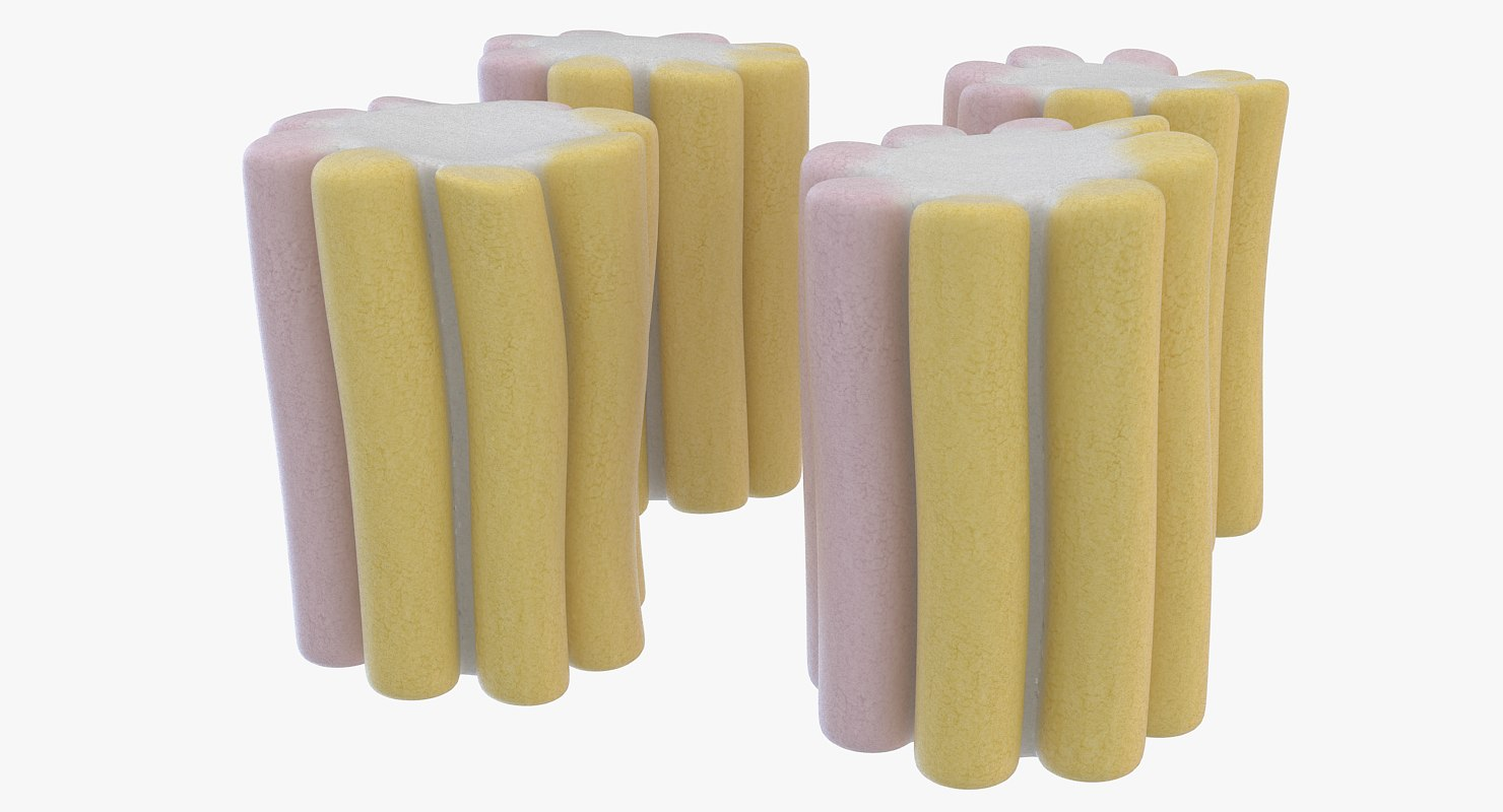 3D model marshmallow candy color