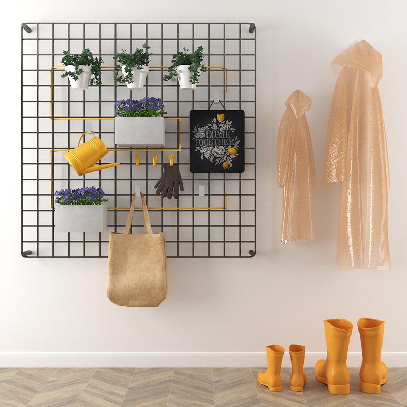 decorative set living room 3D model