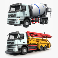 3D model concrete pumper mixer
