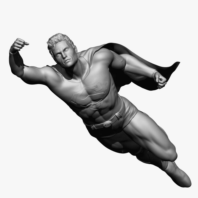 superman man 3D model