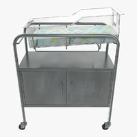 hospital bassinet 3D
