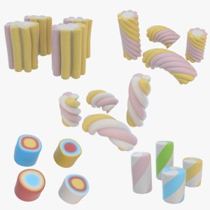 3D marshmallow candy color