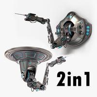 3D robotic arm 02 stylized