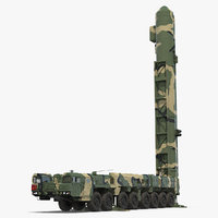 scud transporter erector launcher 3D