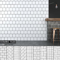 3D seamless ceramic tiles