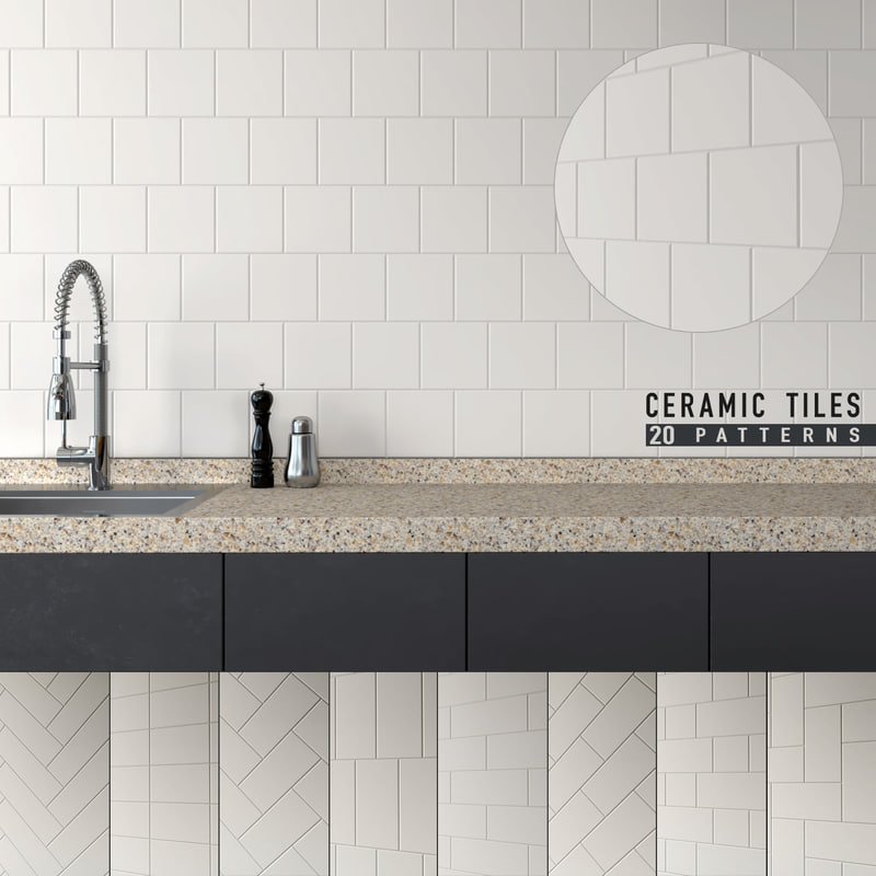 3d Model Seamless Ceramic Tiles 7 Turbosquid 1236305