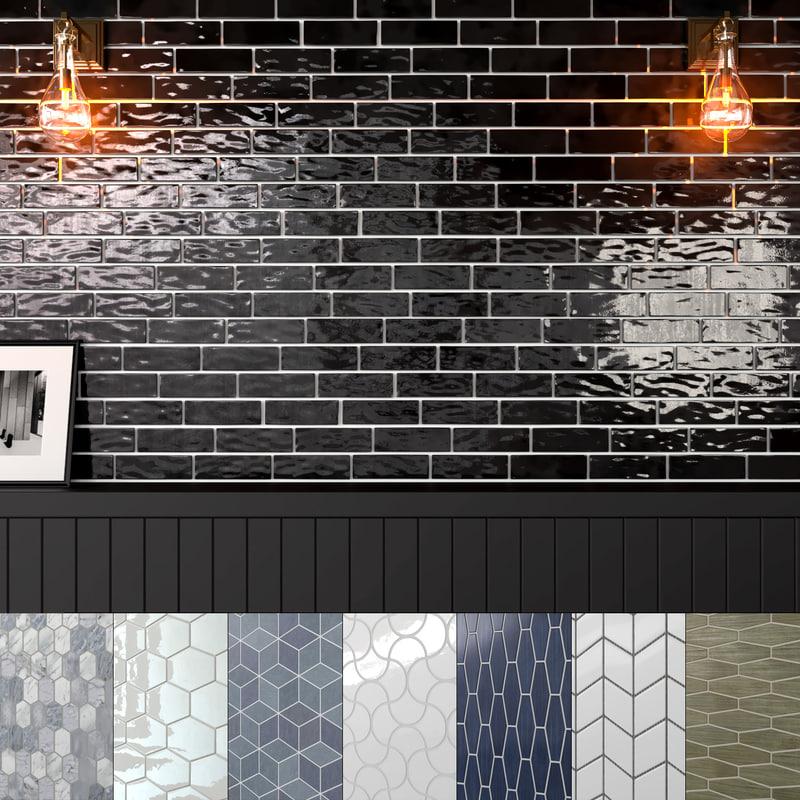seamless ceramic tiles 8 3D model