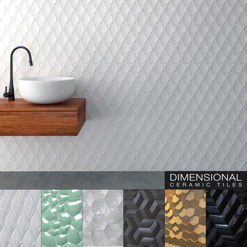 seamless ceramic tiles 10 3D model