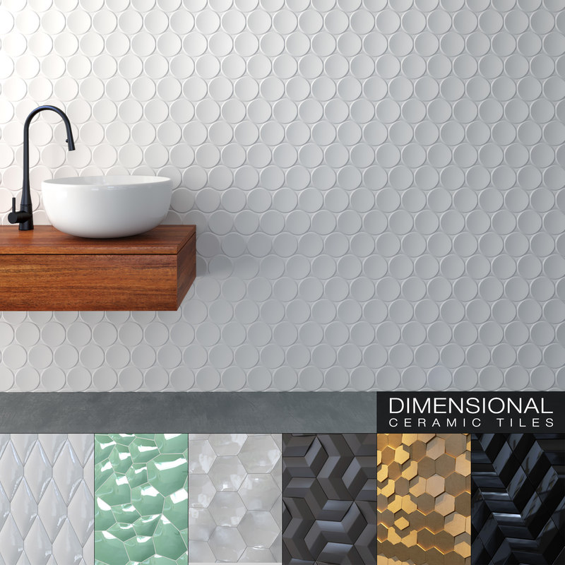 Seamless ceramic tiles 10 3D model - TurboSquid 1236309 on Tile Models  id=58555